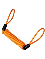 Tinksky Cable Recordatorio para Candado de Moto Bicicleta Bloqueo de Disco 1.2 M (Naranja)