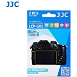 JJC LCP-GH5 2Kits PET Ultra Hard Polycarbonate LCD Guard Film Display Screen Protector for Panasonic Lumix GH5 Camera