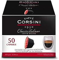 Caffè Corsini - Classico Italiano Miscela di Caffè in Capsule Compatibili Nescafè* DolceGusto*, Gusto Forte e Deciso -...