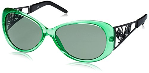 Fastrack Cateye Sunglasses (Green and Black) (P198GR3F) image