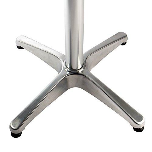 Vanage Stehtisch Bistrotisch in silber - der Bartisch ist höhenverstellbar - Aluminiumtisch gut geeignet als Beistelltisch oder Partytisch im Garten - 2