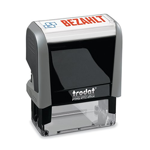 Trodat Office Printy 4912 Stempel mit Text BEZAHLT, grau