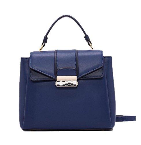 Mode Handtaschen Für Frauen Europa Und Die Vereinigten Staaten Schulter Schräg über Die Weibliche Paket Blue