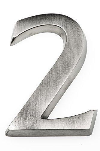 Huber Hausnummer aus Aluminium thumbnail
