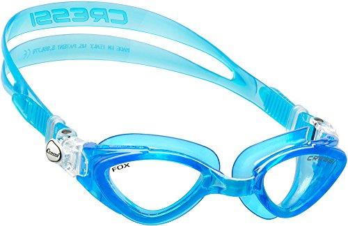 Cressi Occhialini da Nuoto a Oculari Separati, Antigraffio, Anti UV, Acquamarina/Lenti Chiare, Taglia Unica