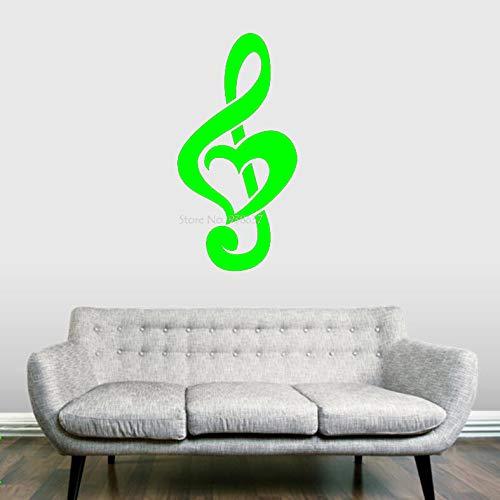 ufkleber Tapete Violinschlüssel Herz Wandtattoos Wohnkultur Wohnzimmer Maßgeschneiderte Farbe Erhältlich grün 30x61 cm ()