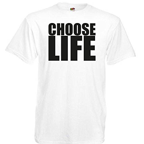 Fruit of the Loom Choose Life Wham Retro 80s T-Shirt - S to 5XL