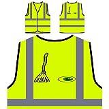 Halloween Kunst Figuren Personalisierte High Visibility Gelbe Sicherheitsjacke Weste q724v
