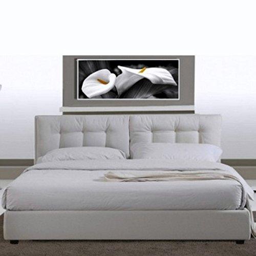 Letto Matrimoniale Bianco Moderno.Bagno Italia Letto Matrimoniale 220x174 In Ecopelle Bianco Moderno