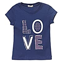 Adams Kids Blue Round Neck T-Shirt For Girls