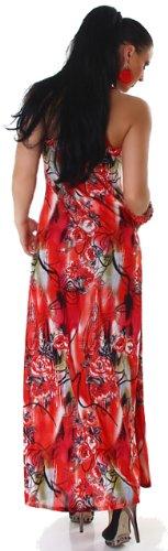 Graffith femme avec bretelles extra-longue motif multicolore taille unique (34–38) Rouge - Rouge