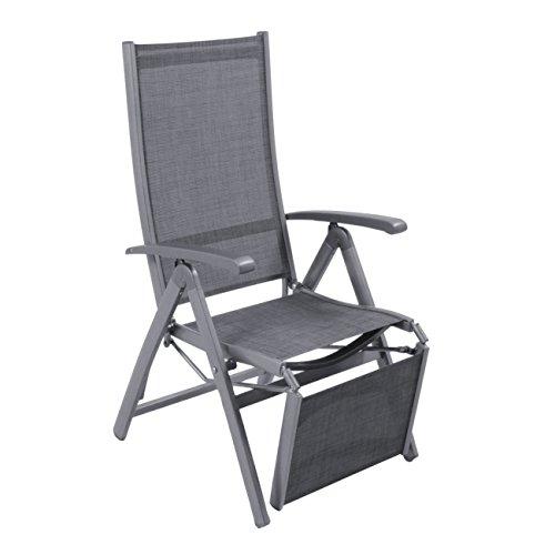 OUTLIV. Klappliegestuhl Garten Relaxliege Liveda Liegestuhl mit Fußstütze klappbar Relaxliege...