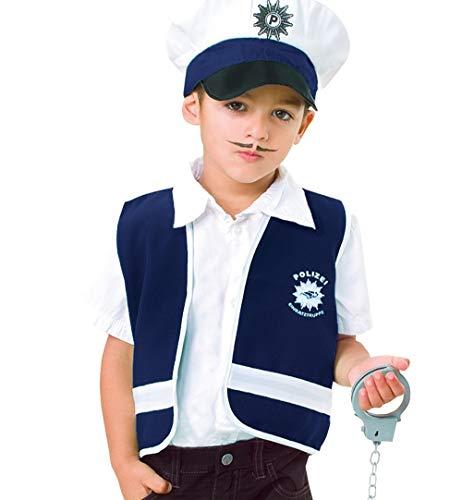 narrenwelt Spielweste Polizei blau Kinder Weste Polizist Polizeiweste 128