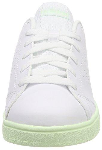 wholesale dealer 3e934 7948f adidas Damen Vs Advantage Clean Fitnessschuhe Elfenbein (Ftwr Whiteftwr  Whiteaero Green ...