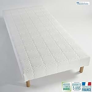 Sommier tapissier 140x200 lattes bois massif