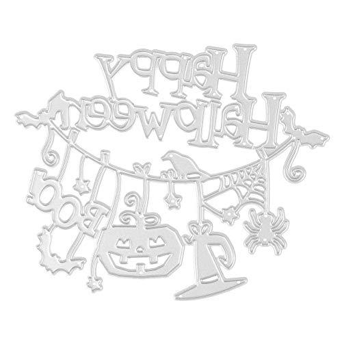(vanpower 1 Stück Halloween Metall Stanzformen Schablonen für Scrapbooking Präge Album DIY Papier Karte Handwerk, MS-477)