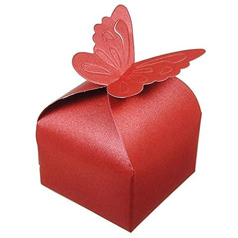 50pcs Papillon Décoration Boîte à Dragées Mariage Baptême Décoration Naissance