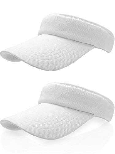 Frienda Sonnenblende Hut Tennis Mütze Golf Baseball Hut mit Verstellbarem Riemen (Weiß, Baumwolle)
