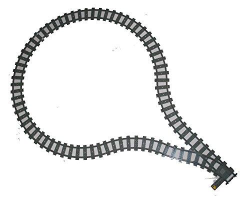 Lego Eisenbahn Schienen Wendeschleife für RC System 1 Weiche + 17 gebogene Gleise passend zu 60051, 60052, 60098