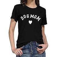 Luckycat Mujeres Manga Corta Camisetas Verano Algodón Carta Impresión T Shirt Blusas Camisas Tops Personalidad
