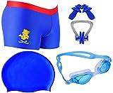 Golden Girl Swimming Kit for Boys Kids & Men(Blue 8-12 Years)
