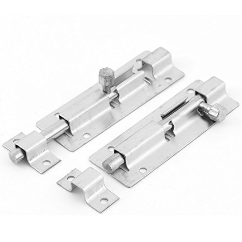 DealMux Fenster, Tür, Metall Sperre Sicherheits Barrel Bolt Latch Haspe Hefter 2ST (Sicherheit-fenster Sperren)