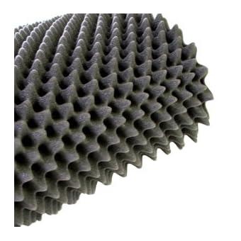 4m² Espuma corrugada en 10cm de grosor para aislamiento acústico–Aislamiento