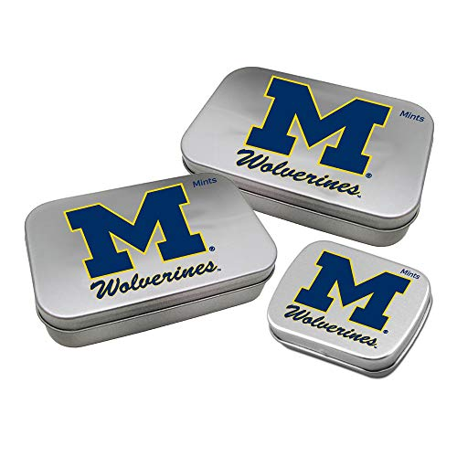Worthy Promotional NCAA Michigan Wolverines Decorative Mint Tin 3-Pack with Sugar-Free Mini Peppermint Candies -