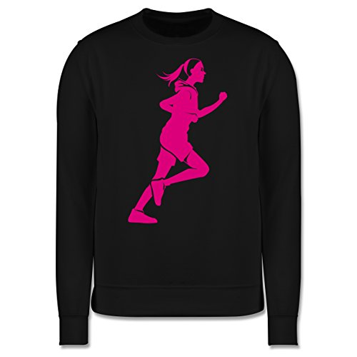Laufsport - Läuferin - Herren Premium Pullover Schwarz