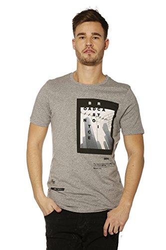 Jack & Jones Herren Oberteile / T-Shirt jcoAuthority Grau