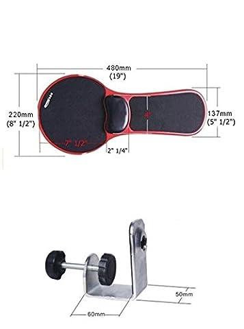 xichen® Premium Ordinateur poignet réglable Accoudoir–Bureau et chaise Double Usage à Maison & Bureau ordinateur Bras de support–Design ergonomique Tapis de souris