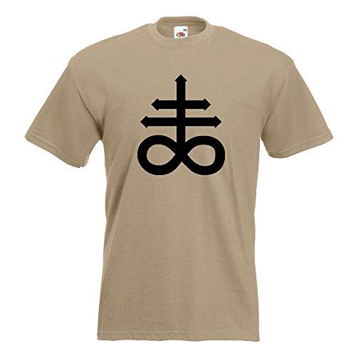 KIWISTAR - The Leviathan Cross T-Shirt in 15 verschiedenen Farben - Herren Funshirt bedruckt Design Sprüche Spruch Motive Oberteil Baumwolle Print Größe S M L XL XXL Khaki