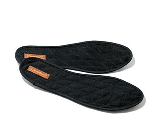 Cinnea Zimt-Einlegesohlen 1 Paar, schwarz Größe 39, Zimt-Sohlen, Zimteinlage-n, Zimtsohle-n mit Zimt, Ingwer Mischung für trockene Füße (39)