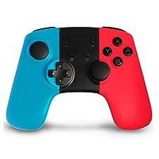 Wireless Mandos para Nintendo Switch, Anpreme Nintendo Switch Controller con Gyro Axis Dual Shock Vibration Mandos Gamepad Joystick para Nintendo Switch