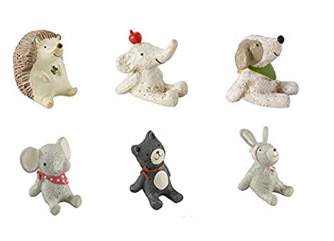 6 Count Animal Mini Figurines Office Desk Decors
