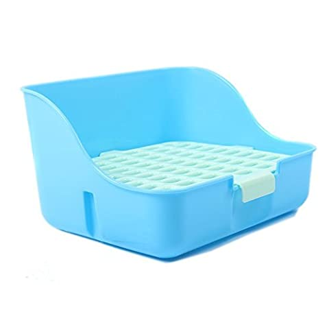 M-Aimee Square Potty Trainer Corner Litter Bedding Box Pet Pan for Small Animal/rabbit/guinea Pig/galesaur/ferret(random Color) by M-Aimee