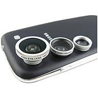 SODIAL(R) 3 in 1 kit lente di camera per Apple iphone 4 4S ipad ( lente di occhi pesce, lente grandangolare + micro obiettivo