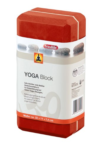 Yoga Block Yogablock Yoga Zubehör Yoga Klotz 22 x 11 x 7,4 ORANGE