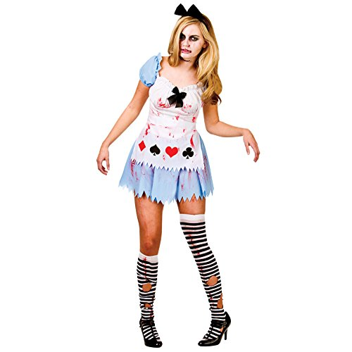 Alice In Zombieland Fancy Dress Costume With Dress, Petticoat, Apron & Headpiece-Extra ()