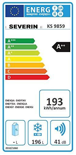 Severin KS 9859 Gefrierschrank / A++ / 145 cm Höhe / 193 kWh/Jahr / 196 L Gefrierteil - 2