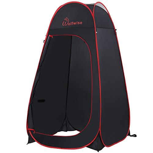 WolfWise Carpa Privada 6.6FT Portable Pop Up Vestuario Espacioso para Camping Ciclismo Baño Ducha Playa