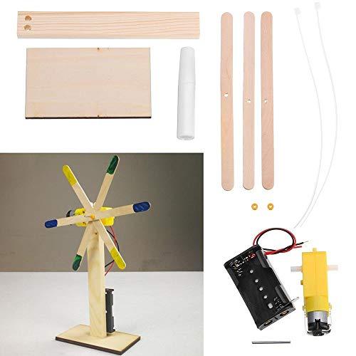Lin Feng Xin Mu Cai Starter Kit Elektrische windmühle Student Kinder Hand Modell Spielzeug DIY Technologie kleine Produktion kit Wissenschaft erfindung bausteine
