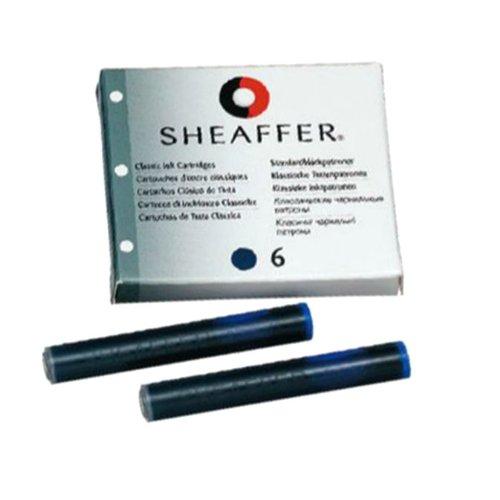 Sheaffer Cartouche pour stylo à plume encre Noir - Reca en étui de 6