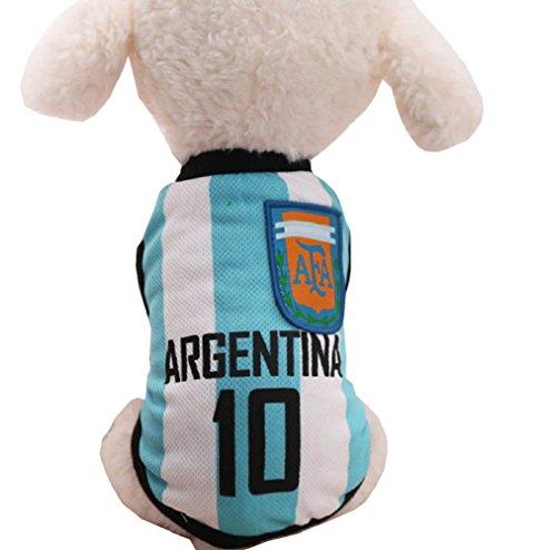 Costume squadre calcio -ARGENTINA- per cane e gatto (XS)