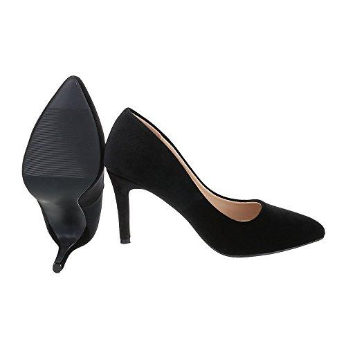 Noir Ital femme compensées chaussures Design WIFqHIS
