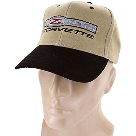 DanteGTS Corvette Z06, colore: nero/kaki-Berretto da Baseball Snapback Stingray-Cappello da Baseball con Logo - Corvette Z06 Logo