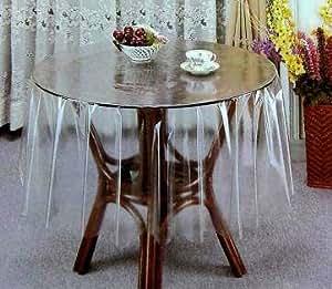 Nappe toile cirée ronde transparente incolore 178 neuf
