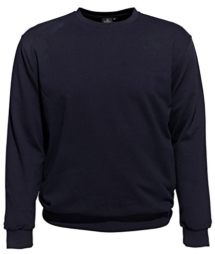 AHORN Rundhals Sweatshirt XXL-56/58 bis 10XL-82/84 Schwarz, Blau Blau