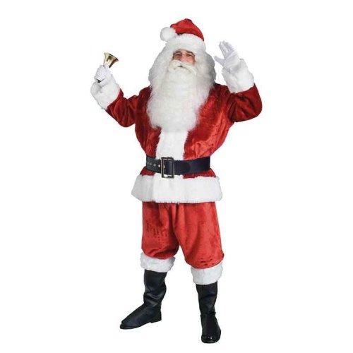 DELUXE Weihnachtsmann 50-54 Santa Anzug + Glocke Kostüm 7 TEILIG