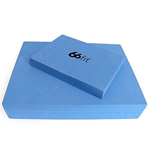 66fit - Juego de bloques de yoga y pilates (cabeza y asiento), color azul